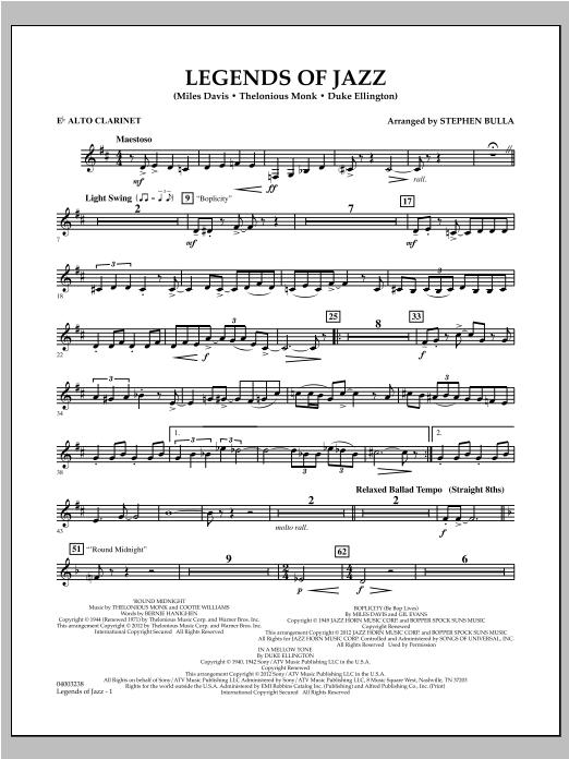 Legends Of Jazz - Eb Alto Clarinet Sheet Music