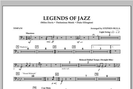 Legends Of Jazz - Timpani Sheet Music