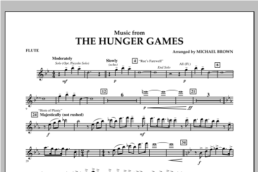 """Music from """"The Hunger Games"""" - Flute Sheet Music"""