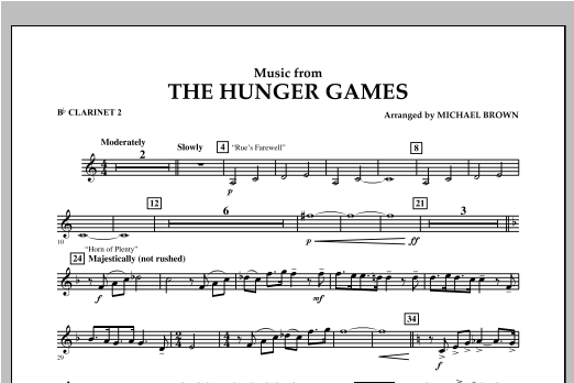"Music from ""The Hunger Games"" - Bb Clarinet 2 Sheet Music"