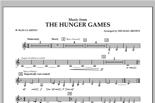"""Music from """"The Hunger Games"""" - Bb Bass Clarinet Sheet Music"""