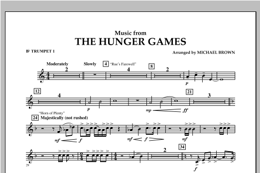 "Music from ""The Hunger Games"" - Bb Trumpet 1 Sheet Music"