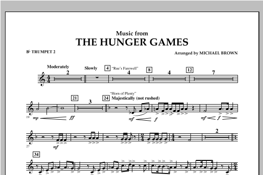 """Music from """"The Hunger Games"""" - Bb Trumpet 2 Sheet Music"""