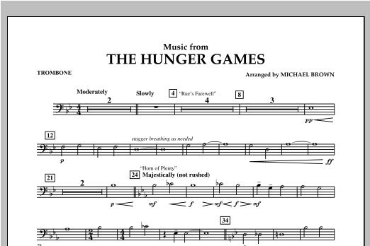 "Music from ""The Hunger Games"" - Trombone Sheet Music"