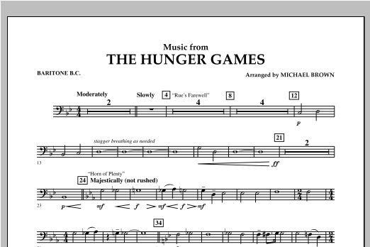 "Music from ""The Hunger Games"" - Baritone B.C. Sheet Music"