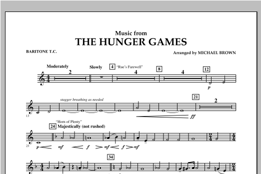 """Music from """"The Hunger Games"""" - Baritone T.C. Sheet Music"""