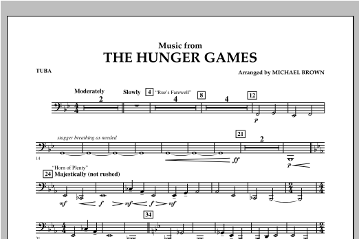 """Music from """"The Hunger Games"""" - Tuba Sheet Music"""