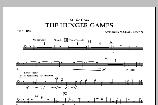 "Music from ""The Hunger Games"" - Bass Sheet Music"