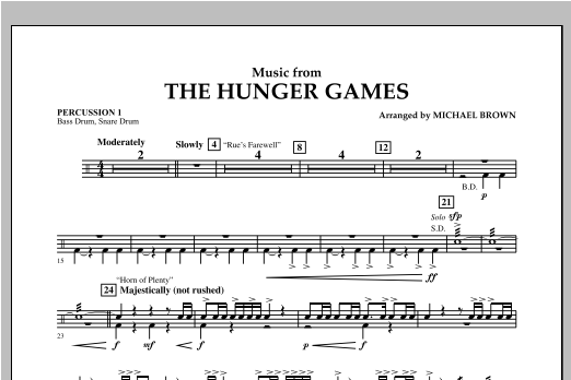 "Music from ""The Hunger Games"" - Percussion 1 Sheet Music"