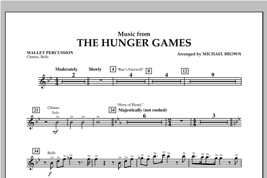 """Music from """"The Hunger Games"""" - Mallet Percussion Sheet Music"""