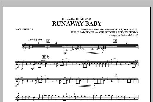 Runaway Baby - Bb Clarinet 2 Sheet Music