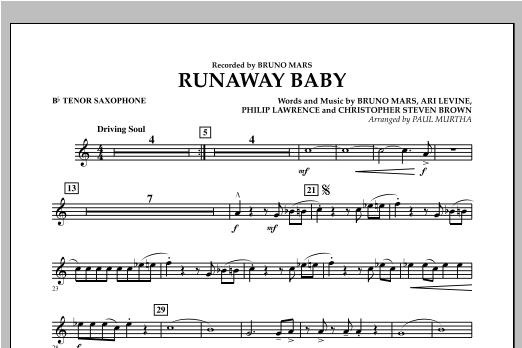 Runaway Baby - Bb Tenor Saxophone Sheet Music