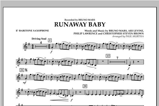 Runaway Baby - Eb Baritone Saxophone Sheet Music