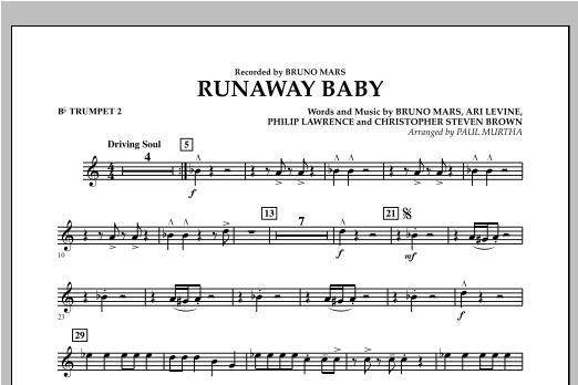 Runaway Baby - Bb Trumpet 2 (Concert Band)