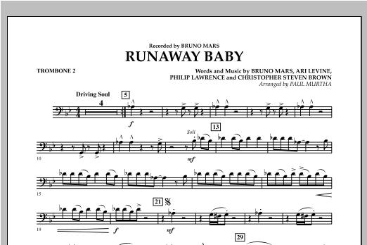 Runaway Baby - Trombone 2 Sheet Music