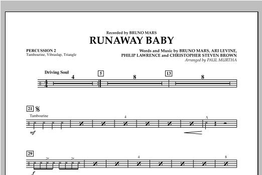 Runaway Baby - Percussion 2 Sheet Music