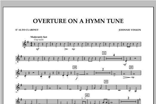 Overture on a Hymn Tune - Eb Alto Clarinet Sheet Music