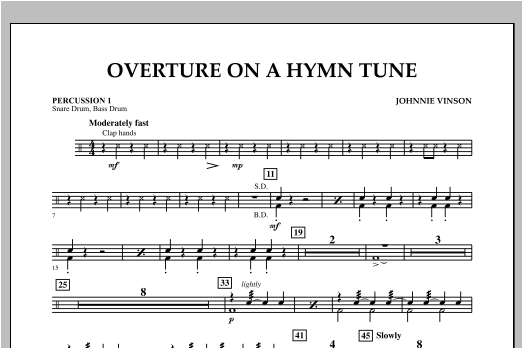 Overture on a Hymn Tune - Percussion 1 Sheet Music