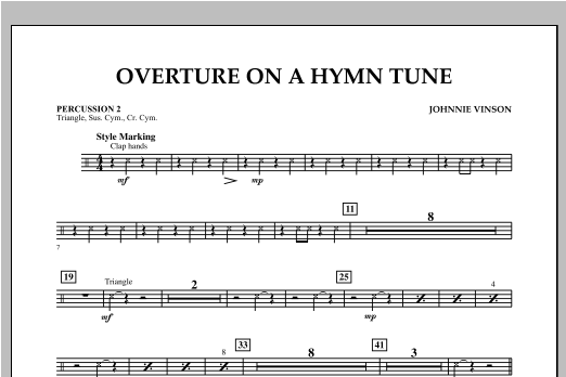 Overture on a Hymn Tune - Percussion 2 Sheet Music