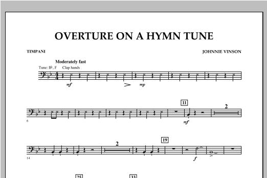Overture on a Hymn Tune - Timpani Sheet Music