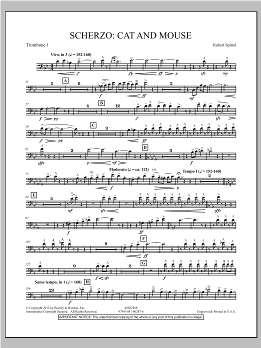 Scherzo: Cat And Mouse - Trombone 1 Sheet Music