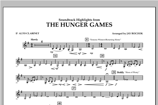 The Hunger Games (Soundtrack Highlights) - Eb Alto Clarinet Sheet Music