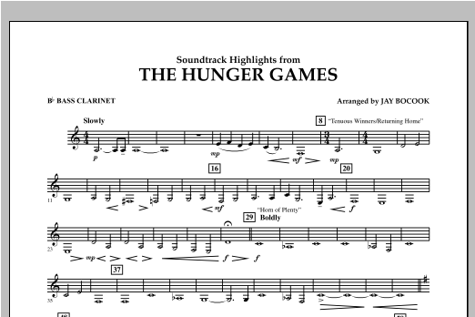 The Hunger Games (Soundtrack Highlights) - Bb Bass Clarinet Sheet Music