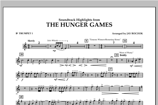 The Hunger Games (Soundtrack Highlights) - Bb Trumpet 1 Sheet Music