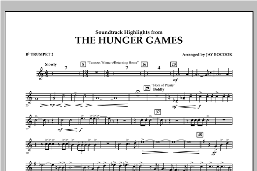 The Hunger Games (Soundtrack Highlights) - Bb Trumpet 2 Sheet Music