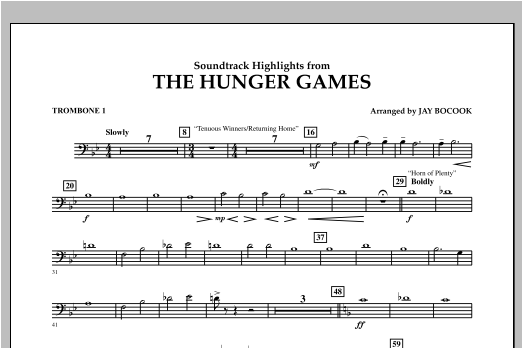 The Hunger Games (Soundtrack Highlights) - Trombone 1 Sheet Music