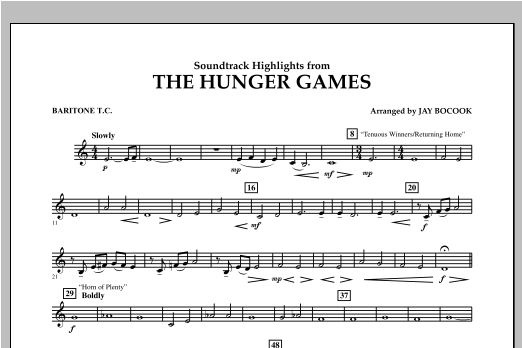 The Hunger Games (Soundtrack Highlights) - Baritone T.C. Sheet Music