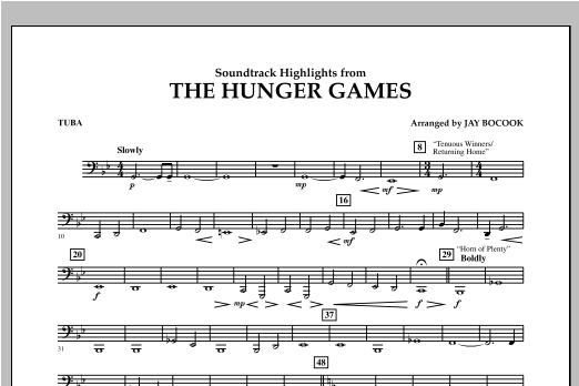 The Hunger Games (Soundtrack Highlights) - Tuba Sheet Music