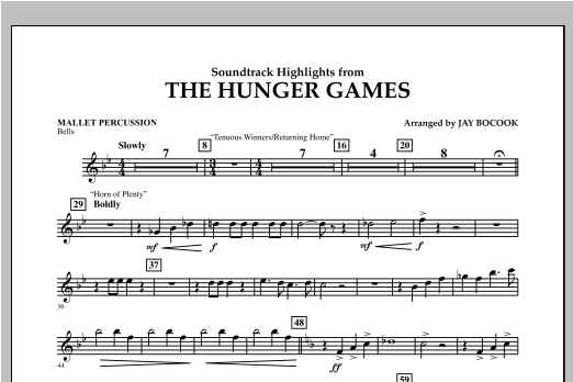 The Hunger Games (Soundtrack Highlights) - Mallet Percussion Sheet Music