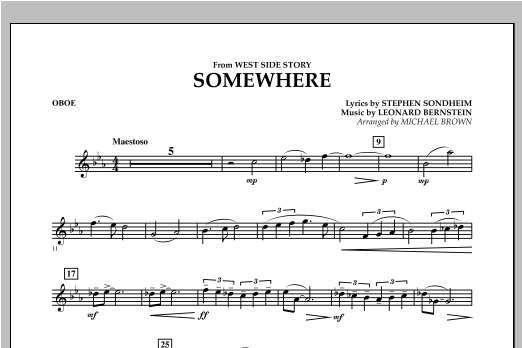 Somewhere (from West Side Story) - Oboe (Concert Band)