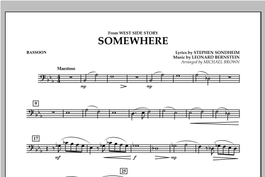 Somewhere (from West Side Story) - Bassoon (Concert Band)