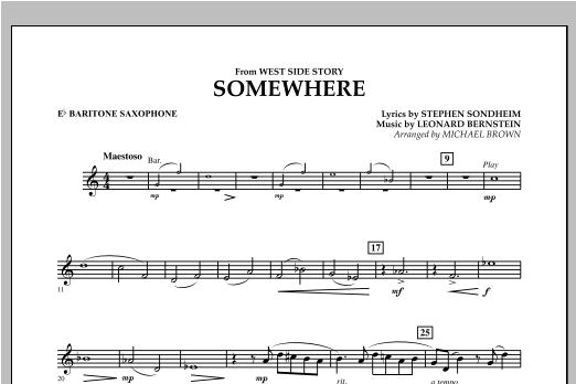 page one of Somewhere (from West Side Story) - Eb Baritone SaxophoneASALTTEXT