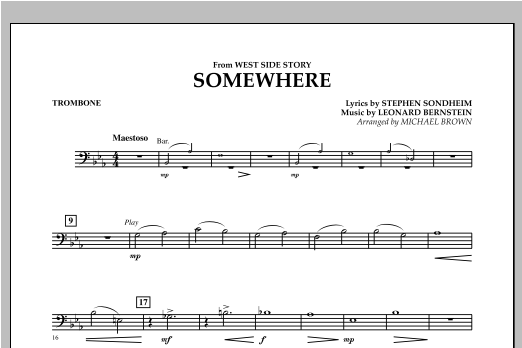 Somewhere (from West Side Story) - Trombone Sheet Music