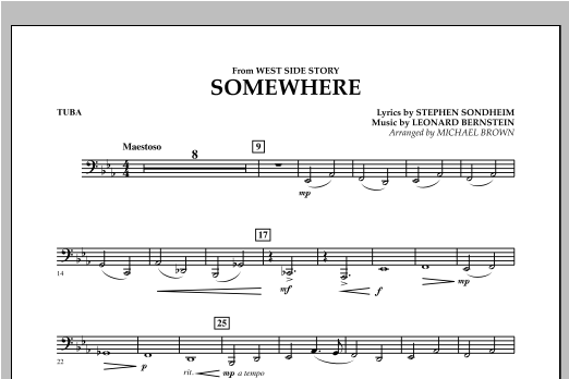 Somewhere (from West Side Story) - Tuba Sheet Music