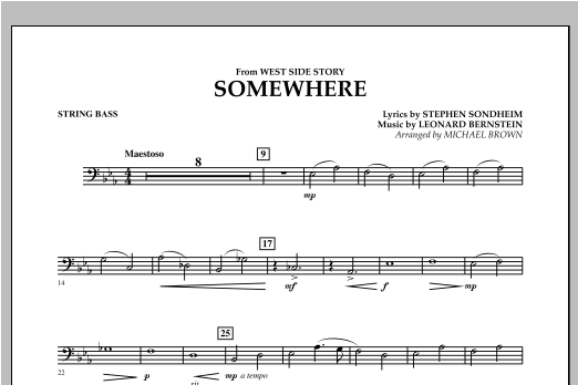 Somewhere (from West Side Story) - Bass Sheet Music