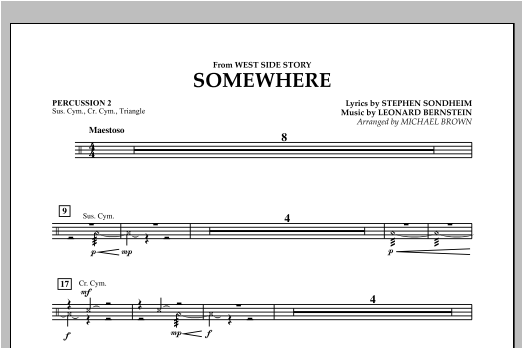 Somewhere (from West Side Story) - Percussion 2 Sheet Music