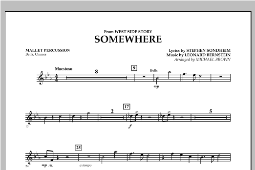 Somewhere (from West Side Story) - Mallet Percussion (Concert Band)