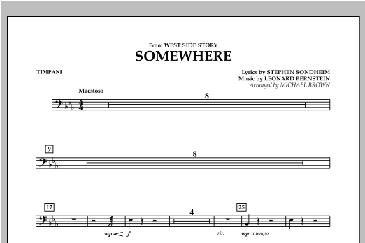 Somewhere (from West Side Story) - Timpani (Concert Band)