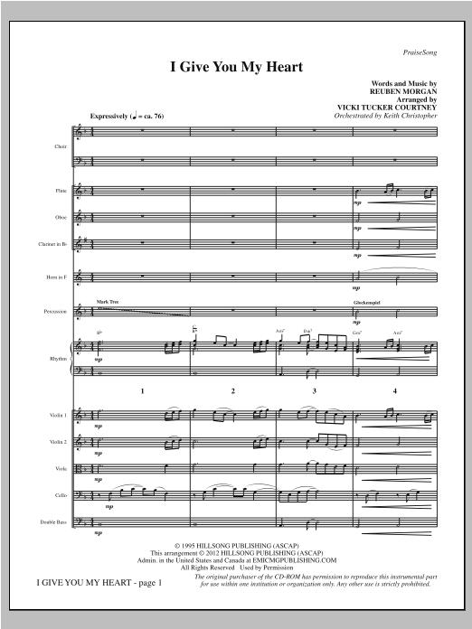 I Give You My Heart - Full Score Sheet Music
