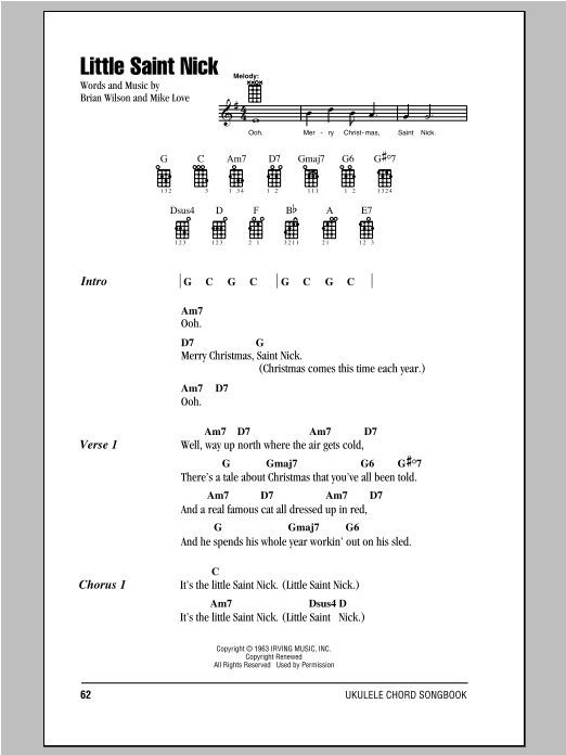 Little Saint Nick | Sheet Music Direct - photo#44