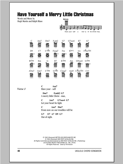 Have Yourself A Merry Little Christmas Chords.Have Yourself A Merry Little Christmas Sheet Music Hugh
