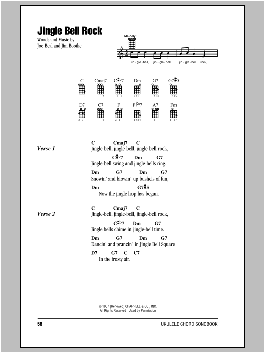Jingle bells rock guitar chords