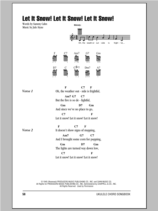 Let It Snow Let It Snow Let It Snow Sheet Music Direct