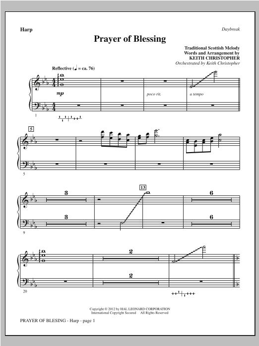 Prayer Of Blessing - Harp Sheet Music