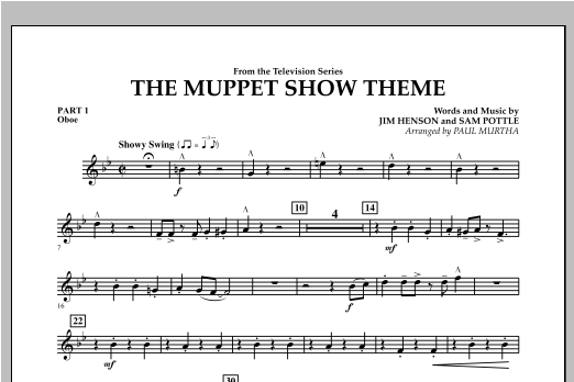 The Muppet Show Theme - Pt.1 - Oboe Sheet Music