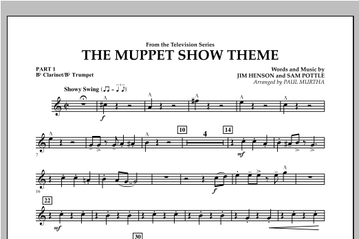 The Muppet Show Theme - Pt.1 - Bb Clarinet/Bb Trumpet Sheet Music